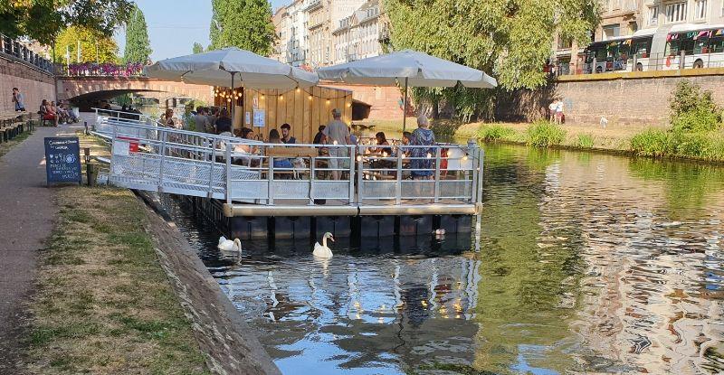 Juin 2021: Le Lavoir Terrasse flottante Strasbourg